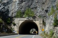 hells gate tunnel, hot day in the fraser river canyon